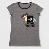 Star Wars Girls' Pocket Short Sleeve T-Shirt - Charcoal Heather