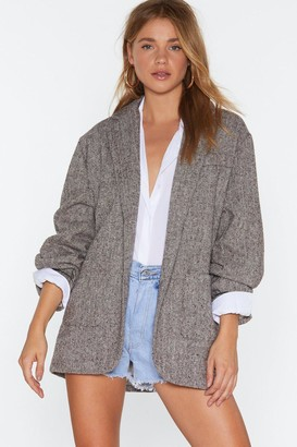 Nasty Gal Womens News Just in Oversized Blazer - Brown - S