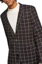 Topman Skinny Fit Windowpane Suit Jacket