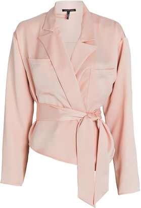 Marissa Webb Riley Satin Crepe Wrap Blouse