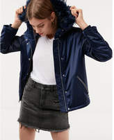 Express satin puffer jacket