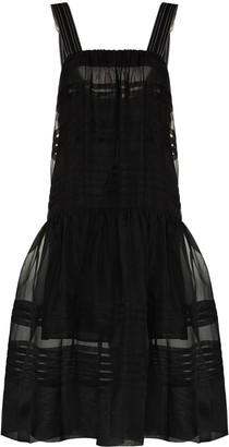 Lee Mathews Andes pleated sleeveless dress