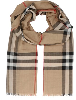 Burberry Check Lightweight Scarf