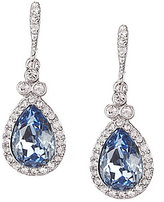 Givenchy Faux-Sapphire Pave Pear Drop Earrings