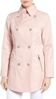 GUESS Women's Hooded Double Breasted Anorak
