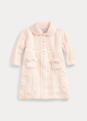 Ralph Lauren Contrast-Knit Sweater Coat
