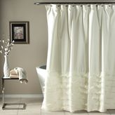 Bed Bath & Beyond Avery Diaphanous Tier Shower Curtain in White