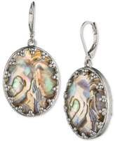 lonna & lilly Silver-Tone Abalone Stone Drop Earrings