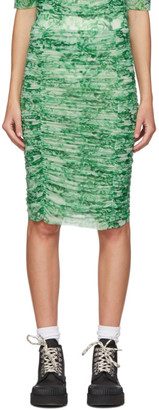 Ganni Green Floral Skirt