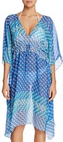 Echo Villa Tile Print Caftan Swim Cover-Up