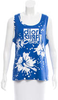 Christian Dior Sleeveless Graphic Top