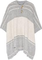 Raquel Allegra Striped alpaca-blend poncho