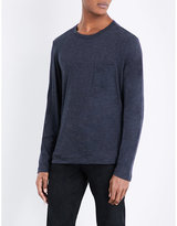 Tom Ford Marl-effect Cotton And Cashmere-blend Top