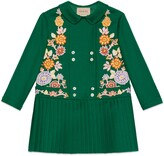 Thumbnail for your product : Gucci Children's wool dress with floral embroideries
