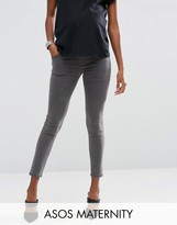 Asos Ridley Skinny Jeans in Slated Gray with Under the Bump Waistband