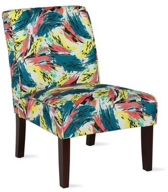 Andover Mills Gallaher Slipper Chair Upholstery Color: Abstract