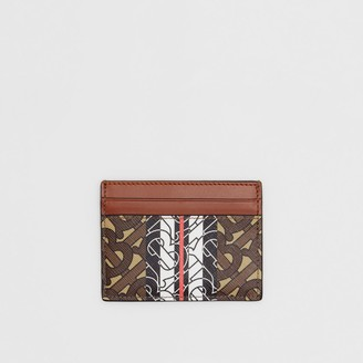 Burberry Monogram Stripe E-canvas Card Case