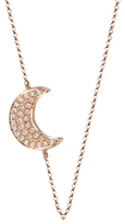 BETTINA JAVAHERI Double Sided Diamond Moon Necklace