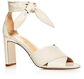 Marion Parke Women's Leah Leather Ankle Tie High-Heel Sandals
