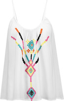 Tart Collections Olympia embroidered voile tank