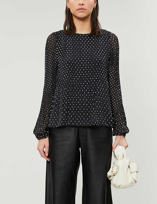 Maje Lockito crepe blouse