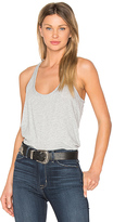 Bobi Light Weight Jersey Scoop Neck Tank in Gray. - size M (also in )