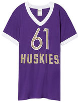 PINK University Of Washington Bling V-Neck Ringer Tee