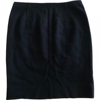 Valentino Navy Wool Skirt for Women Vintage