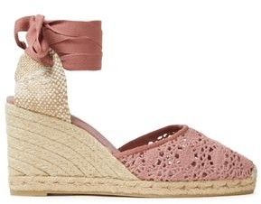 Castaner Carina 80 Crocheted Cotton-blend Wedge Espadrilles