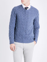 Ralph Lauren Purple Label Cable-kit cashmere jumper