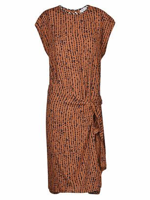 Proenza Schouler Georgette Short Sleeve Wrap Dress
