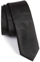 BOSS Solid Abstract Weave Tie