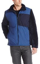 Nautica Men's Colorblock Berber Bomber Jacket