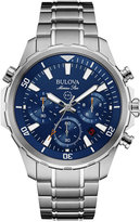 Bulova Men's Chronograph Marine Star Stainless Steel Bracelet Watch 43mm 96B256