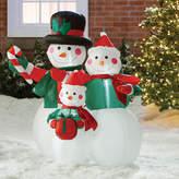 Three Posts Snowmen Family Decoration