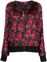 John Richmond floral-print zip-up hoodie