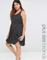 Junarose Sleeveless Spotty Dress