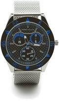 Perry Ellis Silvertone Mesh Blue Dial Watch