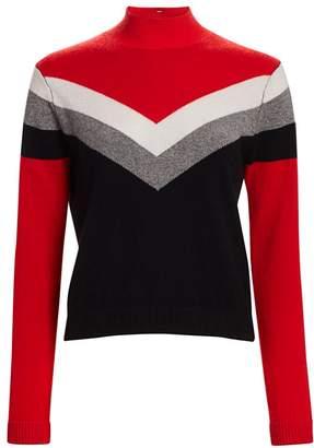 Threads Of Prvlg Cashmere Chevron Funnel Neck Sweater
