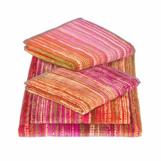 Elaiva Pink Grass Five Piece Bath Towel Set