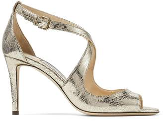 Jimmy Choo Emily 85 Metallic Sandals