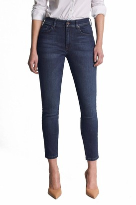 Salsa Bliss Capri Jeans in Dark Rinse Blue