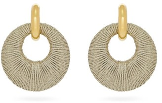 Lizzie Fortunato Orb Cord & Gold-plated Hoop Earrings - Womens - Beige