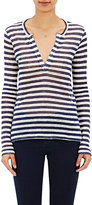 Barneys New York Women's Striped Long-Sleeve T-Shirt-NAVY, CREAM
