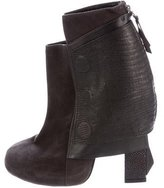 Chrissie Morris Embossed Ankle Boots