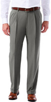 Haggar Big & Tall eCLo Glen Plaid Dress Pant - Classic Fit, Pleated Front, Hidden Expandable Waistband