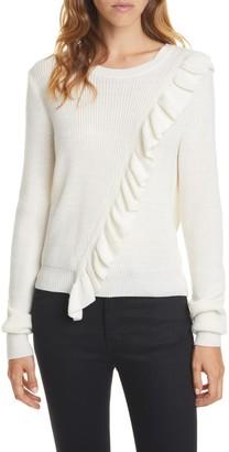 Joie Viviana Ruffle Wool Blend Sweater