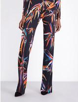 Emilio Pucci Bamboo-print slim-flare jersey trousers