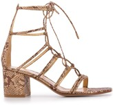Gianvito Rossi snakeskin-effect 70mm lace-up sandals