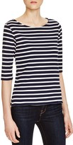 Majestic Filatures Stripe Elbow Sleeve Tee